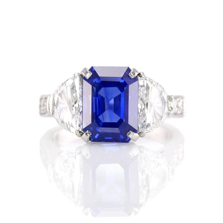 320 Results. The most important value factor to consider when shopping for emerald-cut blue  sapphire engagement rings is the quality of the center stone.
