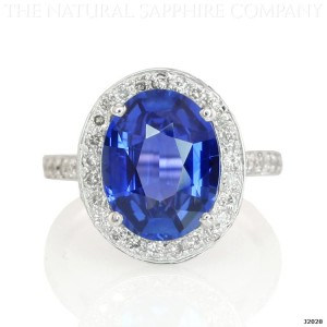 Diamond Invention Sapphire Halo Ring