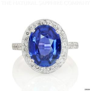 Diamond Invention Sapphire Halo Ring