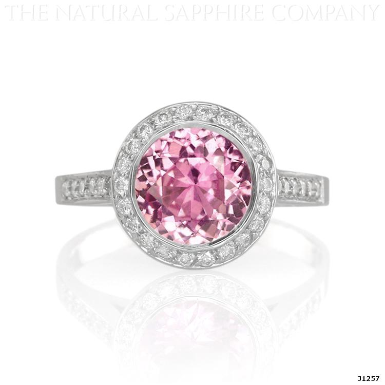 Buy Affordable Inexpensive Pink Sapphire Engagement Rings With Diamonds With Images