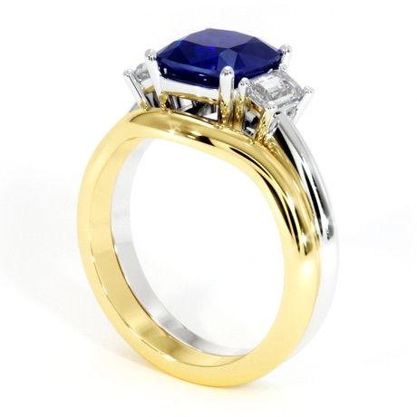 Render of Custom Sapphire Ring Idea
