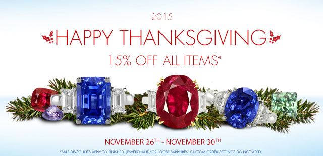 'Thanksgiving Sale - 15% Off All Items (excluding settings and bands)' from the web at 'http://www.thenaturalsapphirecompany.com/app_templates/skin_1/images/HomePageBanners/Thanksgiving-Sale-2015.jpg'