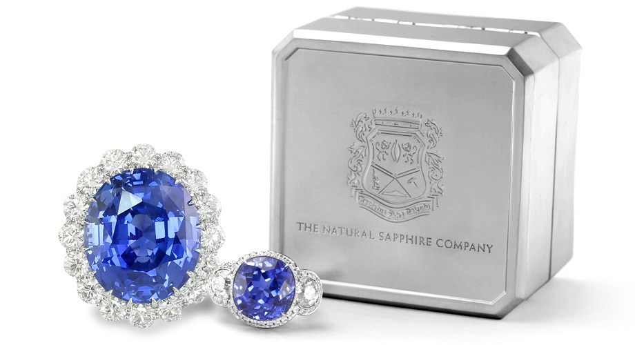 Sapphire Jewelry Ring and Custom Aluminum Case