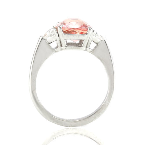Padparadscha Sapphire Ring View 2
