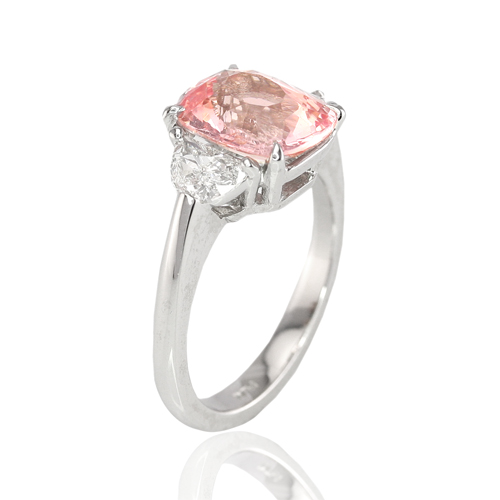 Padparadscha Sapphire Ring View 4