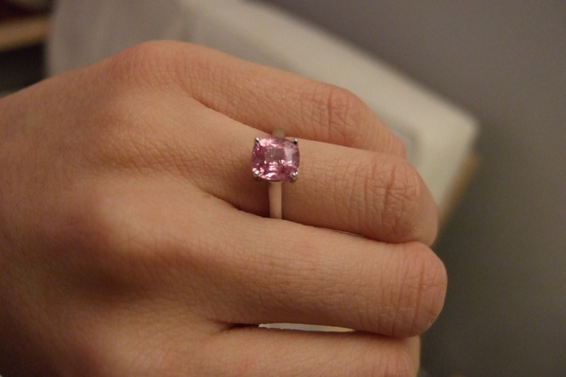 Pink Sapphire Ring in Rose Gold
