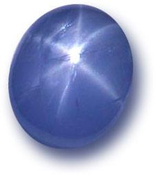 natural blue star sapphire