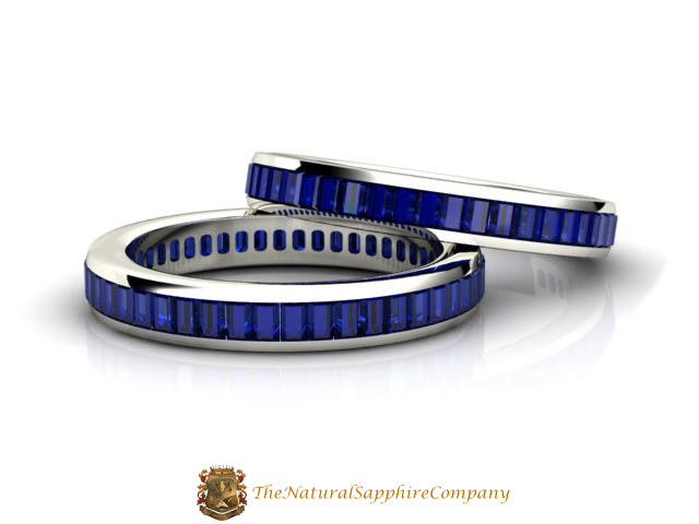 Blue Sapphire Eternity Wedding Band - The Natural Sapphire Company ...