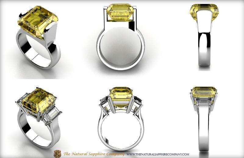 Custom Yellow Sapphire Rings