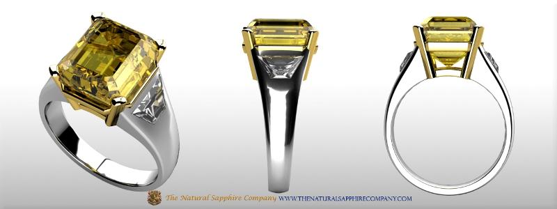 Custom made Purple Sapphire Ring 2