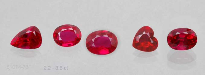 natural untreated rubies