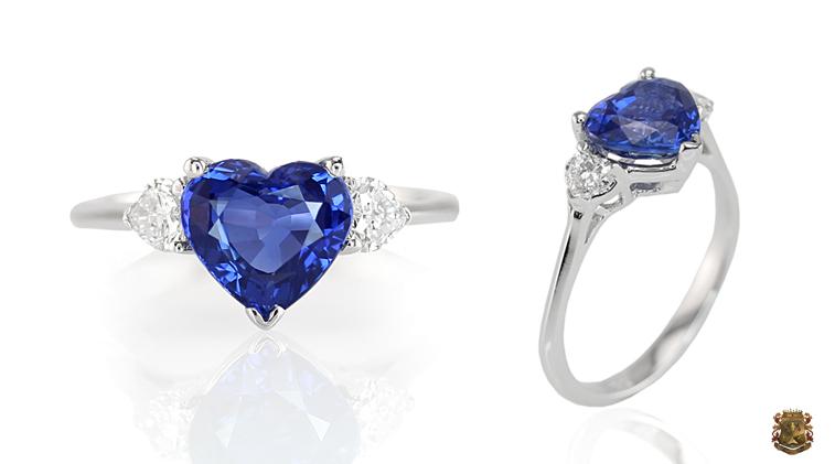 Heart Blue Sapphire Ring