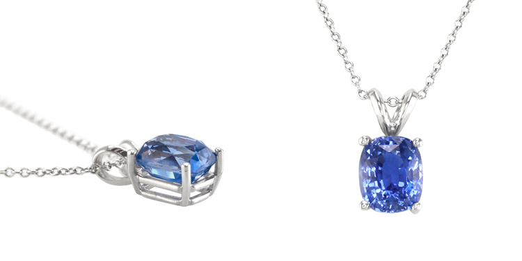 c necklace necklaces drop pendant sapphire saphire aaa with halo oval classic p