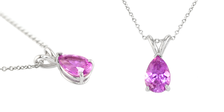 Natural Untreated Lilac Sapphire Pendant