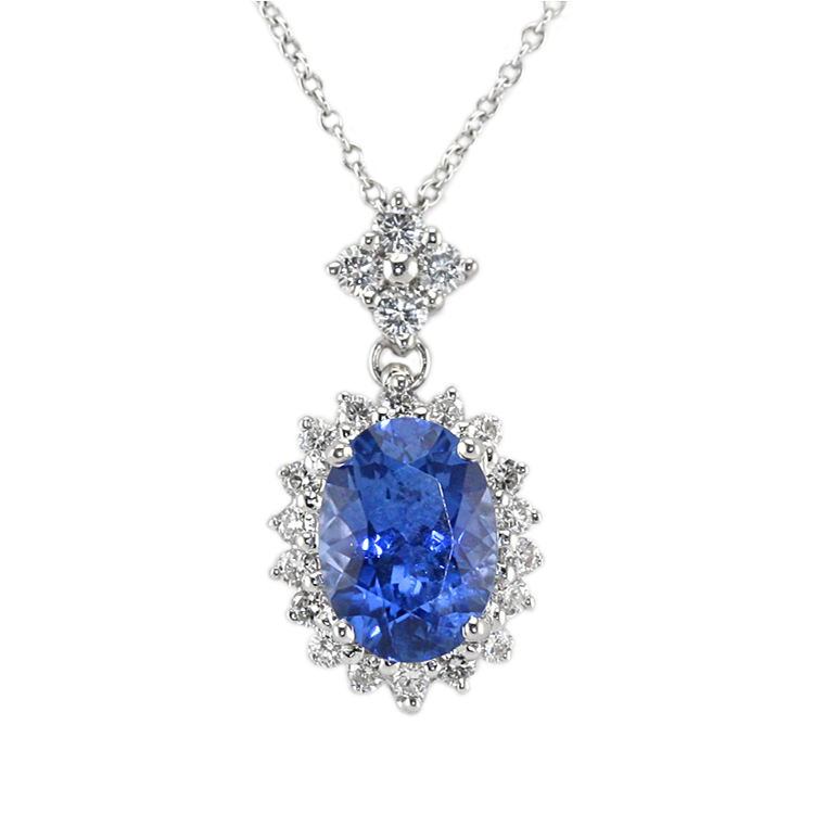 Natural Untreated Blue Sapphire Pendant