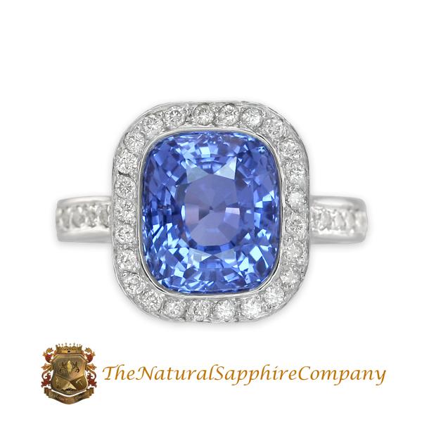 Beautiful Custom Designed Natural Untreated Blue Sapphire Ring