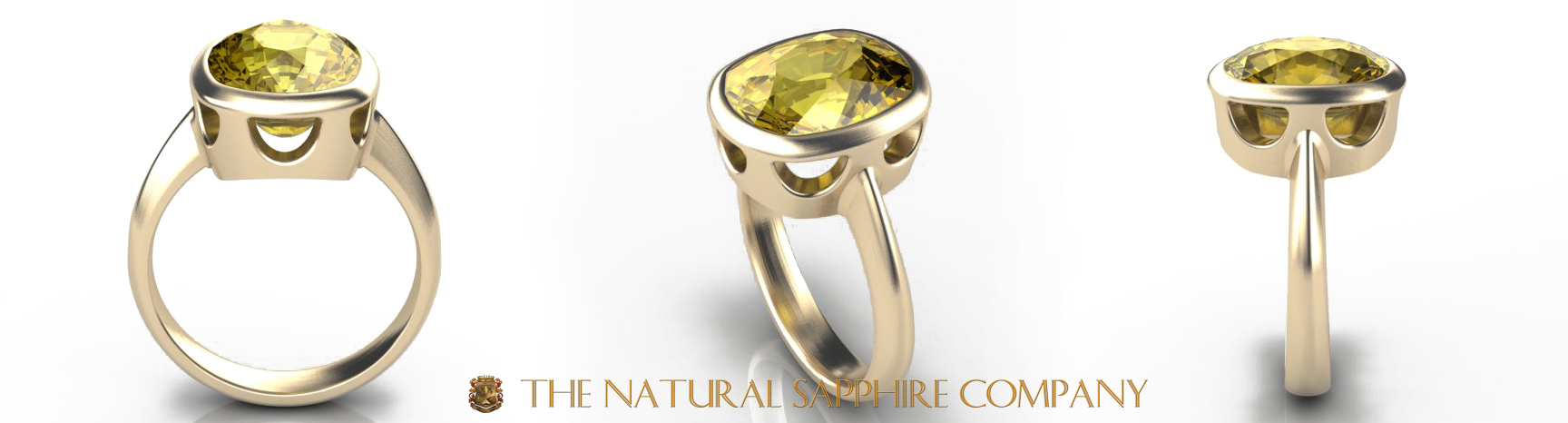 Custom Natural Untreated Yellow Sapphire Ring