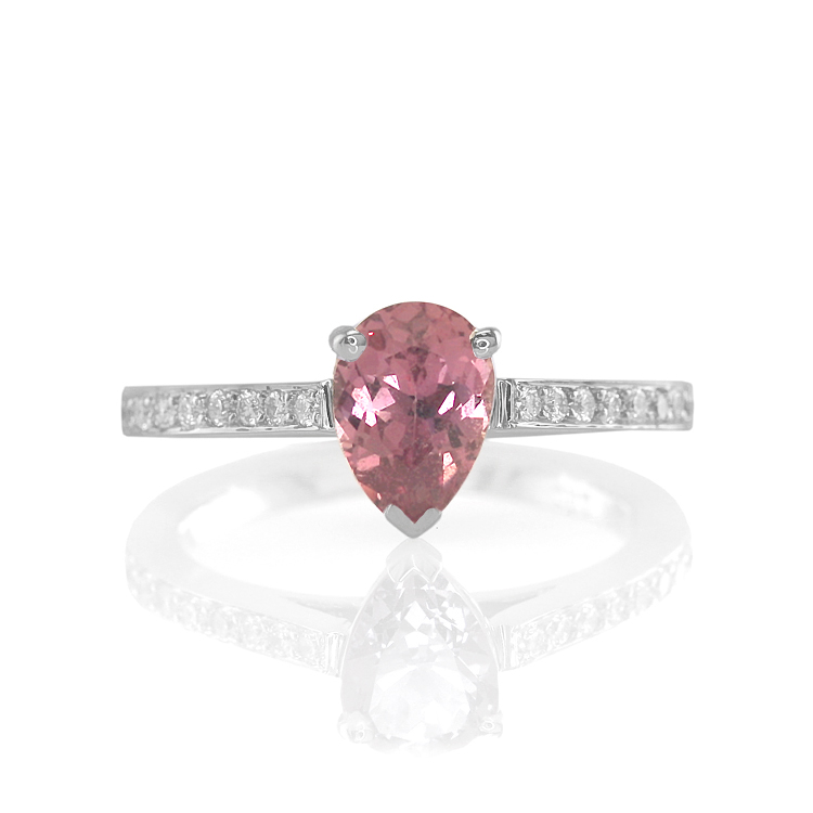 Custom Natural Untreated Padparadscha Sapphire Ring
