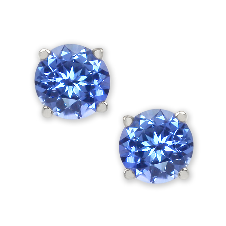 Elegant Natural Untreated Blue Sapphire Earrings
