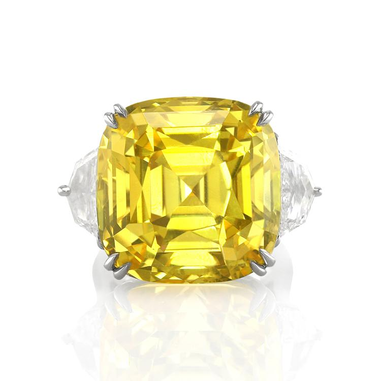 Yellow Rock Stone Ring