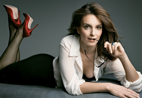 Tina Fey Wearing A Natural Blue Sapphire Ring
