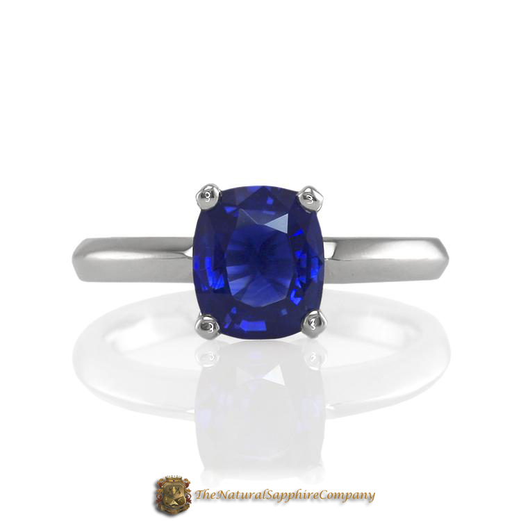 Beautiful Natural Untreated Blue Sapphire Engagement Ring