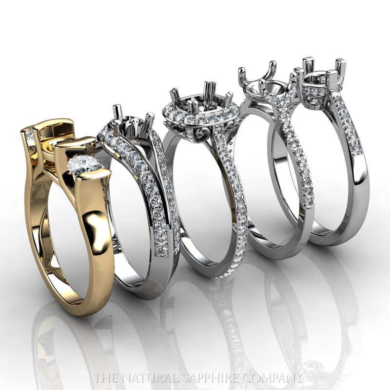Classic Mountings Are An Elegant Choice Ring Settings Without