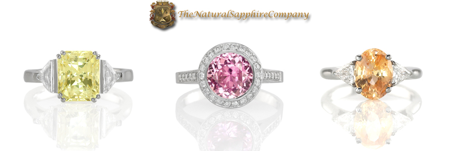 Elegant Natural Untreated Sapphire Engagement Rings