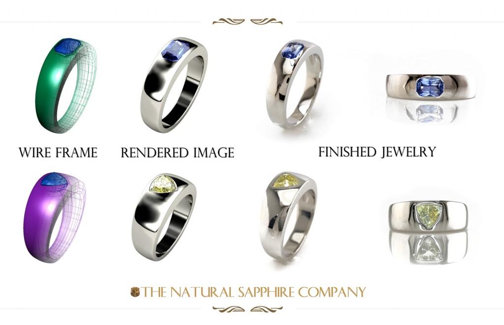 Custom Made Sapphire Men's Rings