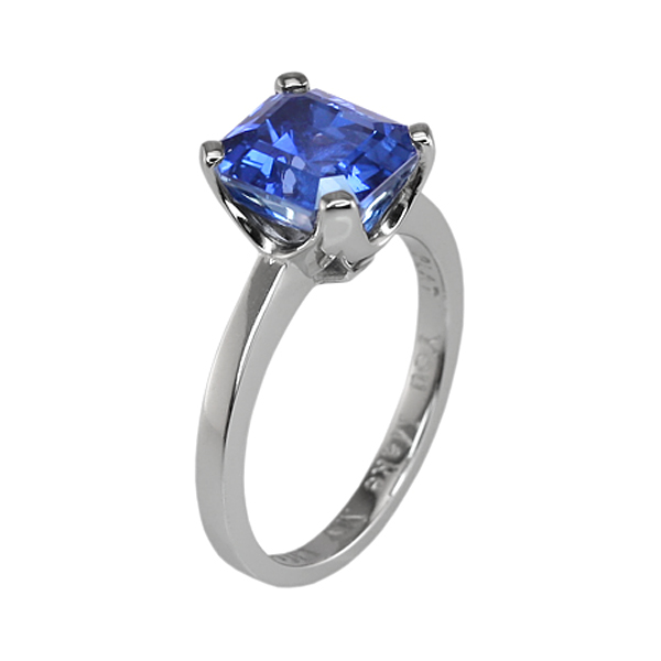 Custom Natural Untreated Blue Sapphire Ring