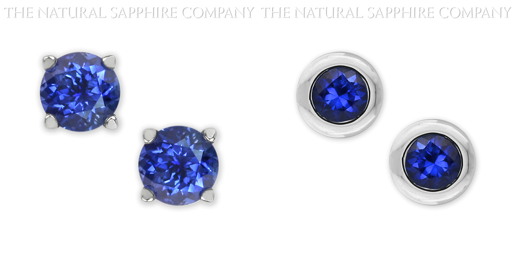 Natural Untreated Blue Sapphire Earrings
