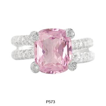 The pastel pink sapphire P573