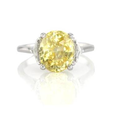 yellow sapphire ring J1145