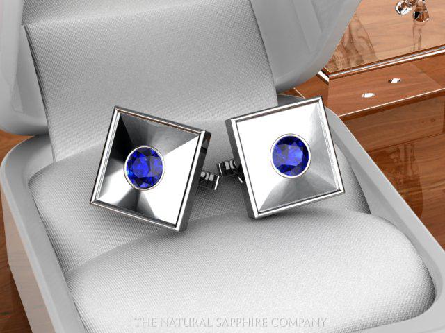 blue sapphire cufflinks