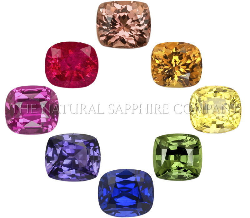 rainbow colored sapphires