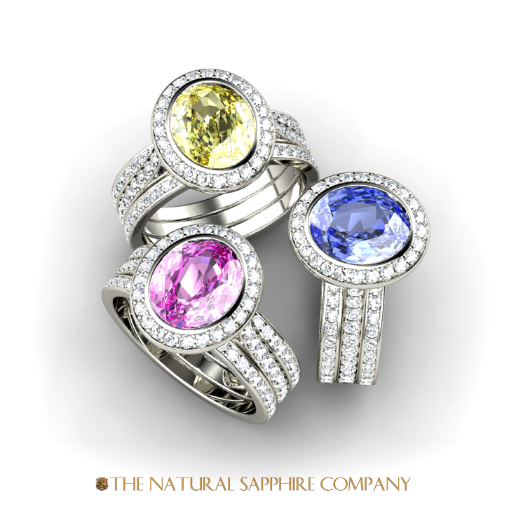 colored sapphire rings