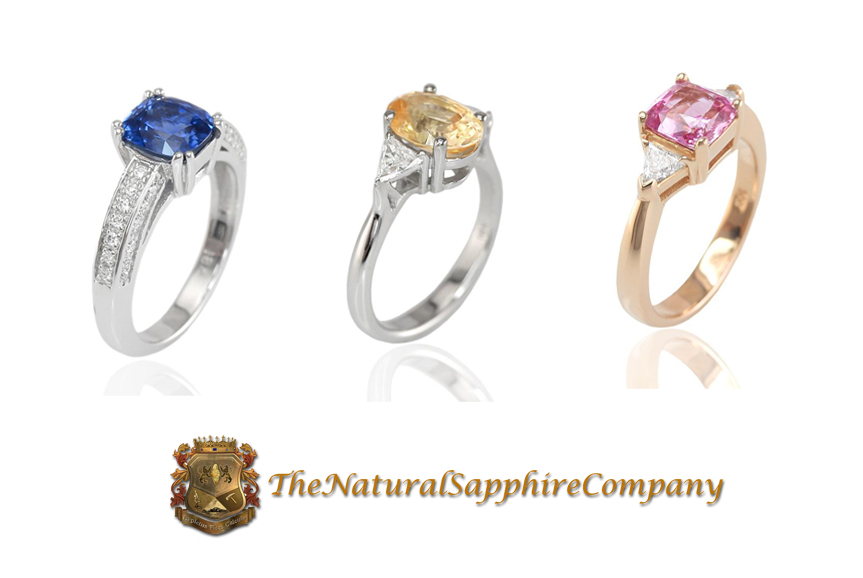 Custom Natural Untreated Sapphire Rings