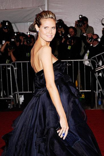 Heidi Klum wearing Natural Blue Sapphire Jewelry