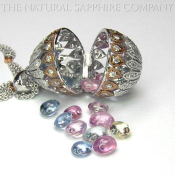 sapphire egg pendant