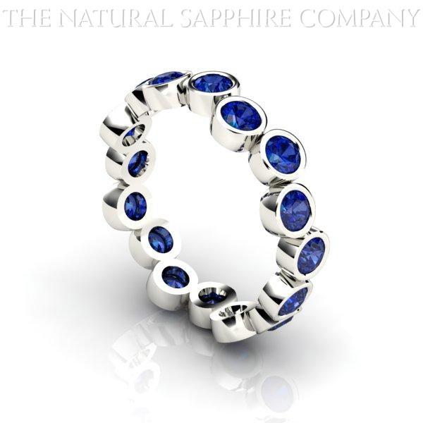 blue sapphire wedding bands