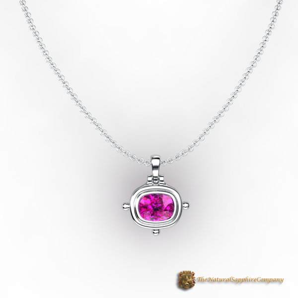 pink sapphire pendant view 3