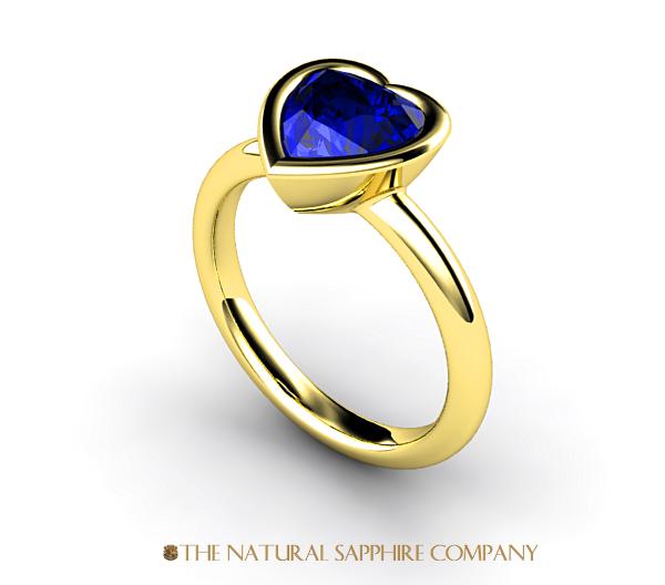 Heart-shape-sapphire ring