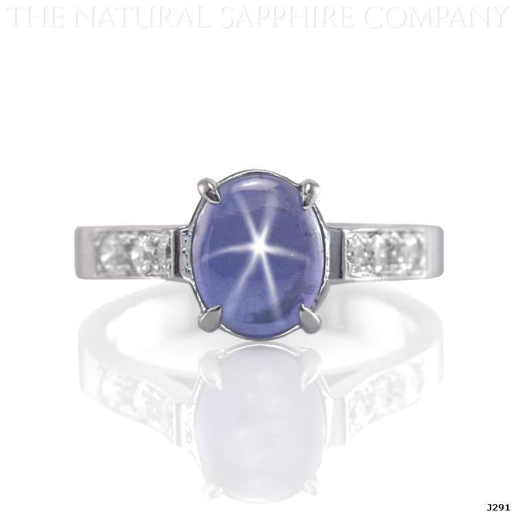 Natural Untreated Blue Star Sapphire Engagement Ring