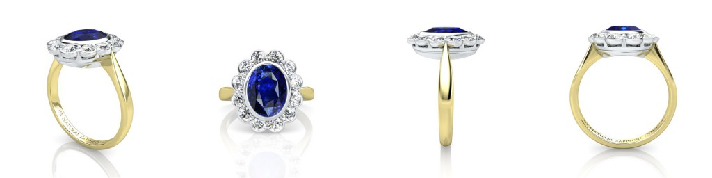 Sapphrie ring different views