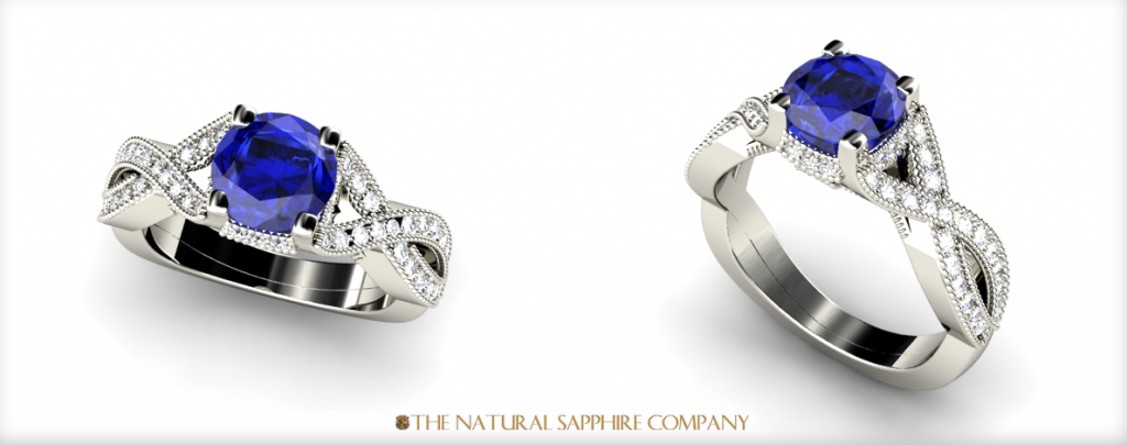 New Custom Sapphire Engagement Ring The Natural Sapphire Company Blog
