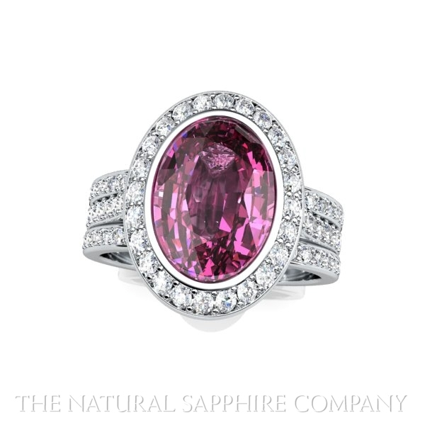 pink sapphire ring view 2