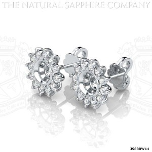 sapphire earring setting