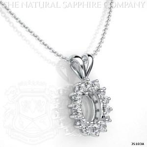 sapphire pendant setting