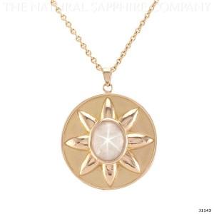 white star sapphire pendant