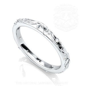 Blue sapphire ring Band